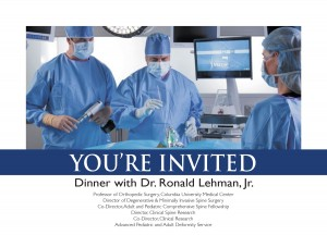 Dr. Ronald A. Lehman, Jr. special dinner presentation about MIS