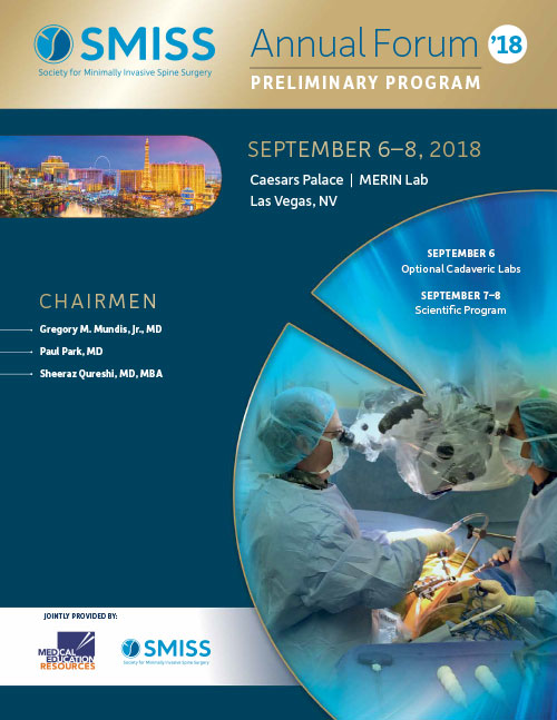 Society for Minimally Invasive Spine Surgery -SMISS- Meeting 2018
