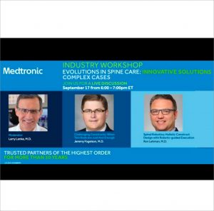 Industry Workshop: Evolutions in Spine Care: Innovative Solutions