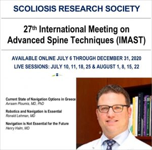 SRS IMAST Spine Meeting Webinar 2020